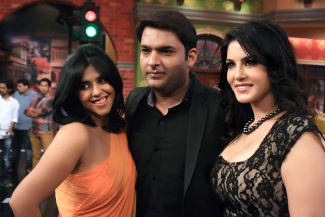 Ekta Kapoor, Kapil Sharma, Sunny Leone