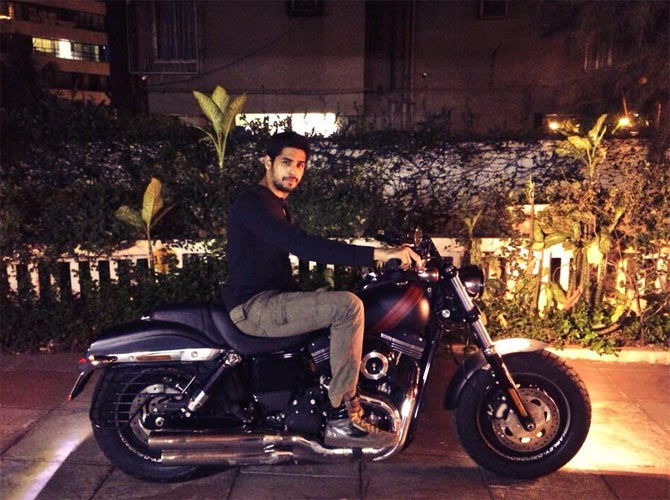 Sidharth Malhotra with his new bike