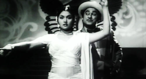 Kishore Kumar and Vyjayanthimala in New Delhi