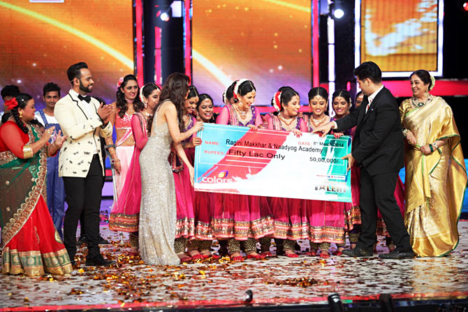 Ragini Makkhar and her troupe Naadyog win India's Got Talent