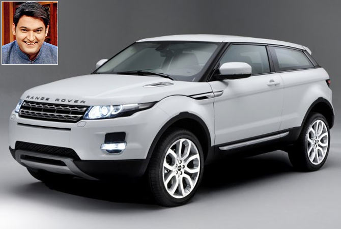 The SUV Range Rover Evoque. Inset: Kapil Sharma
