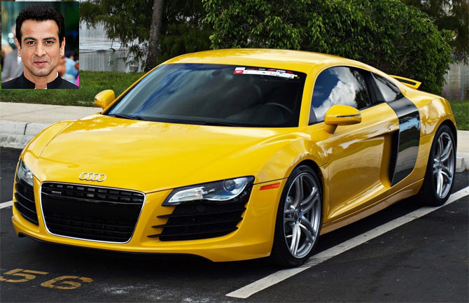 The Audi R8. Inset: Ronit Roy