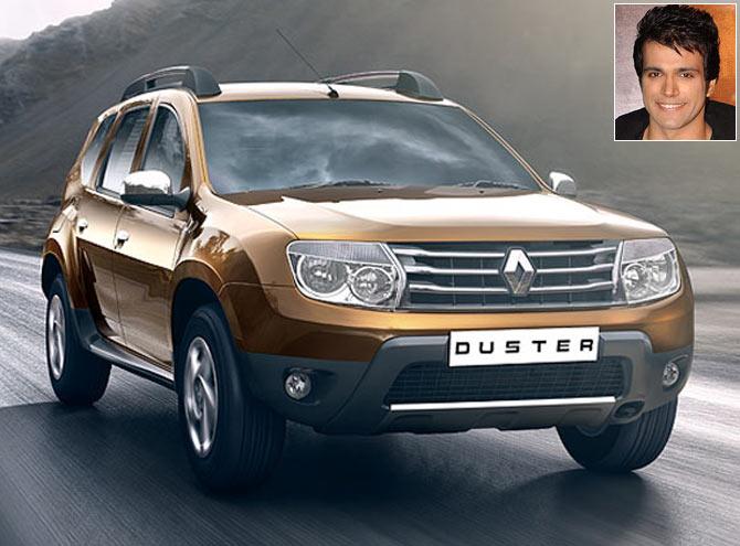 The Renault Duster. Inset: Rithvik Dhanjani