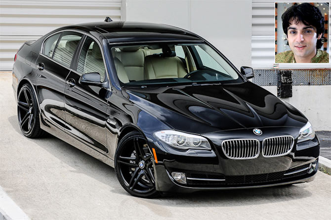 The BMW 5 Series. Inset: Karan Wahi