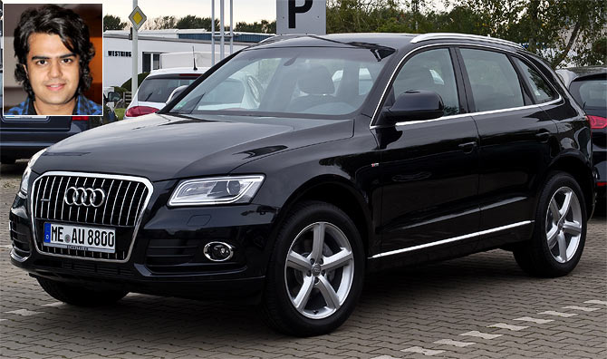 The Audi Q5. Inset: Manish Paul