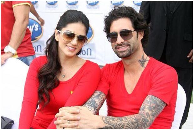 Sunny Leone with husband Daniel Webber