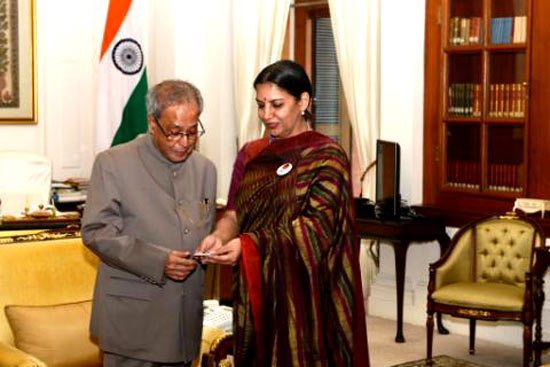 Shabana Azmi and Pranab Mukherjee