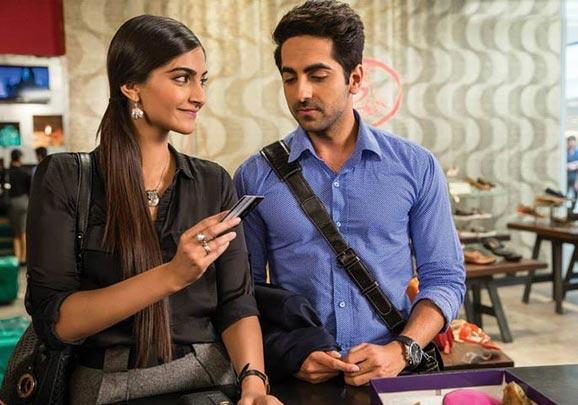 Sonam Kapoor and Ayushmann Khurrana in Bewakoofiyaan