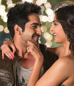 Ayushmann Khurrana and Sonam Kapoor in Bewakoofiyaan