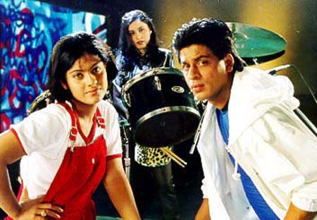 Kajol, Rani Mukerji and Shah Rukh Khan in Kuch Kuch Hota Hai