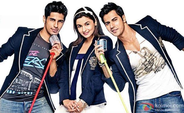 Siddharth Malhotra, Alia Bhatt and Varun Dhawan in Student of the Year