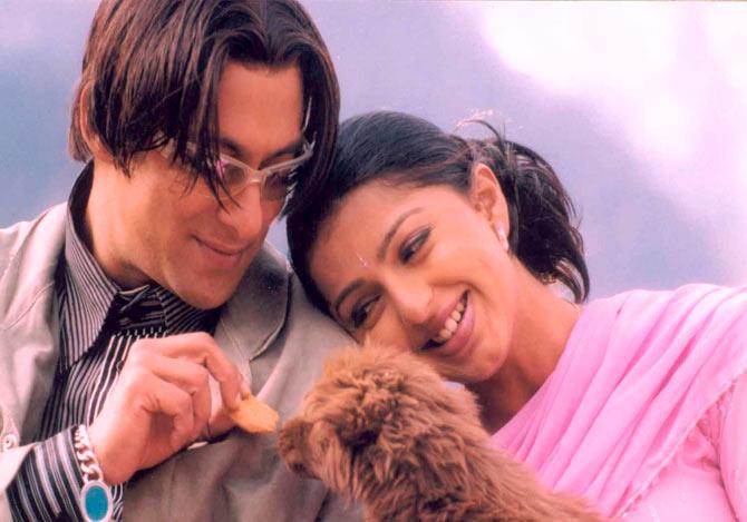 Salman Khan and Bhumika Chawla in Tere Naam