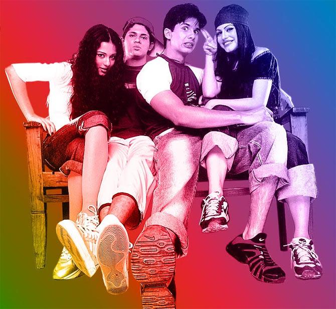 Amrita Rao, Vishal Malhotra, Shahid Kapoor and Shenaz Treasurywala in Ishq Vishk