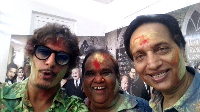 Chunkey Pandey, Satish Kaushik and Ratan Jain