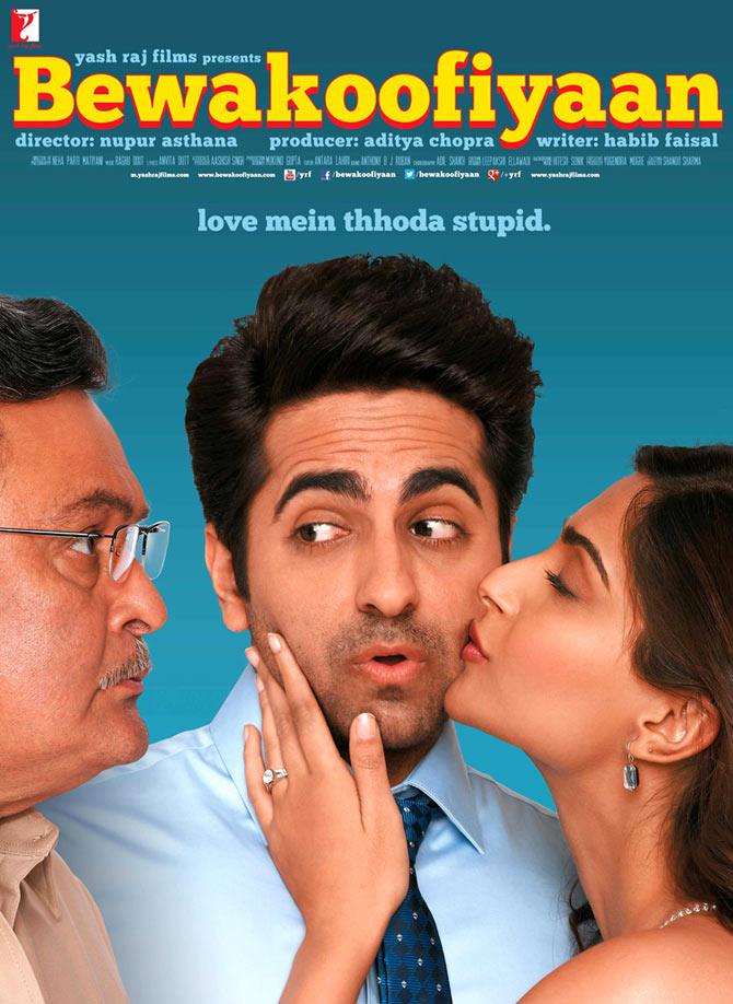 Rishi Kapoor, Ayushmann Khurrana, Sonam Kapoor in Bewakoofiyaan