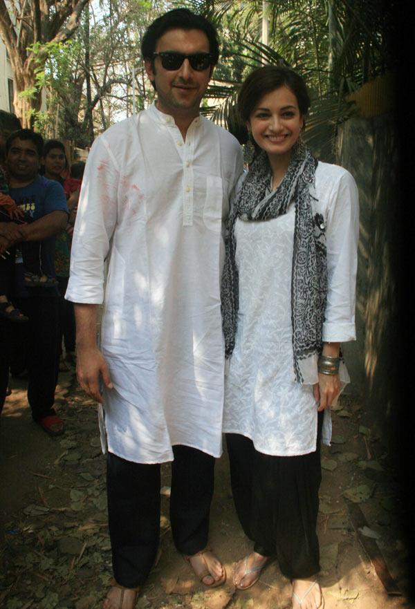 Dia Mirza and Sahil Sangha.