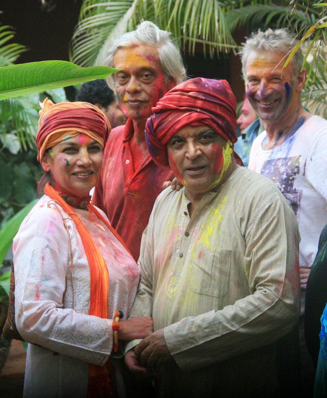 Shabana Azmi, Javed Akhtar, Sudhir Mishra