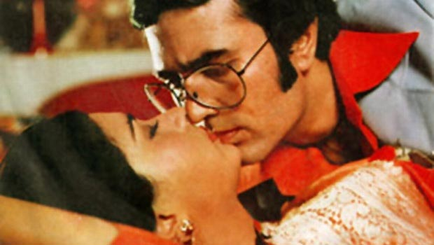 Poonam Dhillon and Rajesh Khanna in Red Rose.