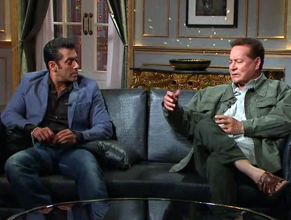 Salman and his father Salim Khan on Koffee With Karan
