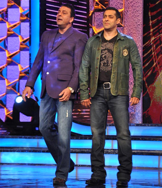 Sanjay Dutt and Salman on Bigg Boss