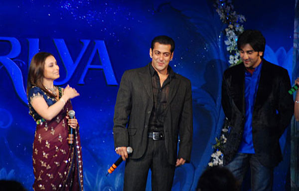 Rani Mukeri, Salman Khan and Ranbir Kapoor at the music launch of Saawariya