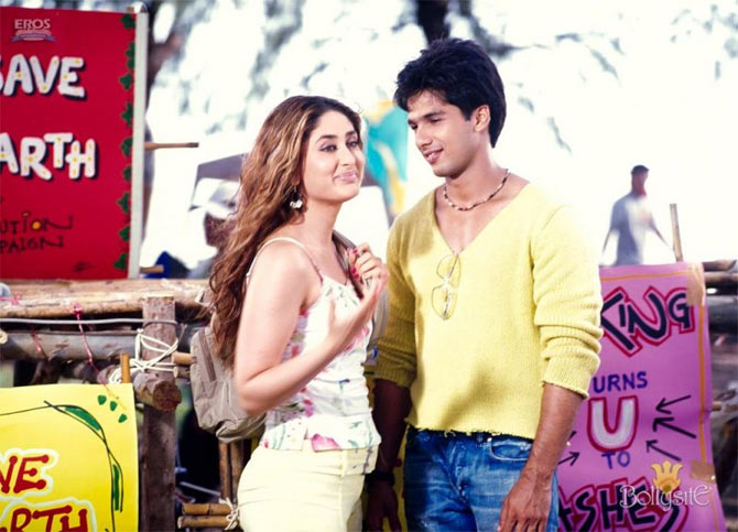 Kareena and Shahid Kapoor in Milenge Milenge