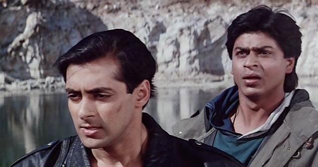 Shah Rukh Khan and Salman Khan in Karan Arjun