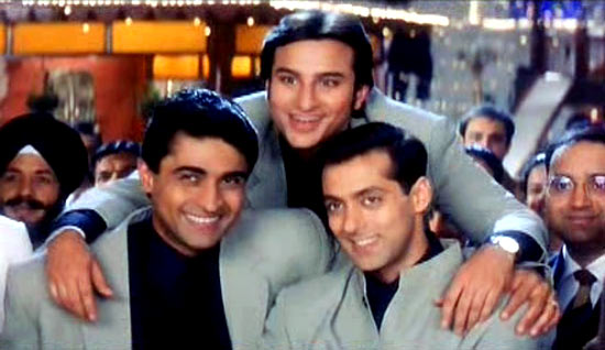 Mohnish Behl, Saif Ali Khan and Salman Khan in Hum Saath Saath Hai