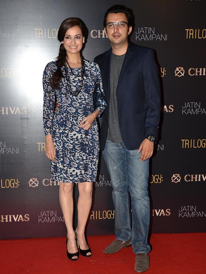 Dia Mirza with fiance Sahil Sangha