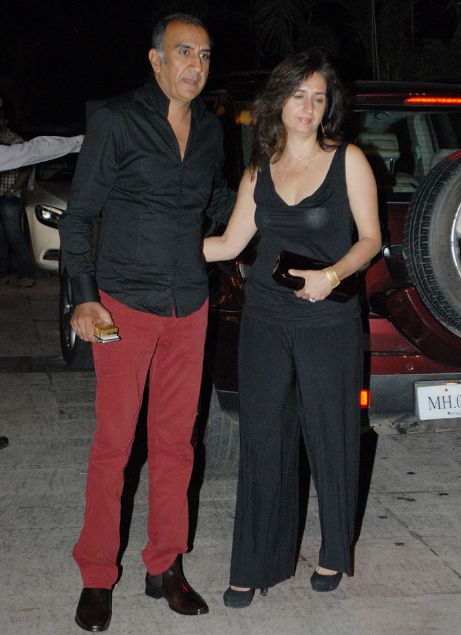 Milan Luthria with wife Lianne