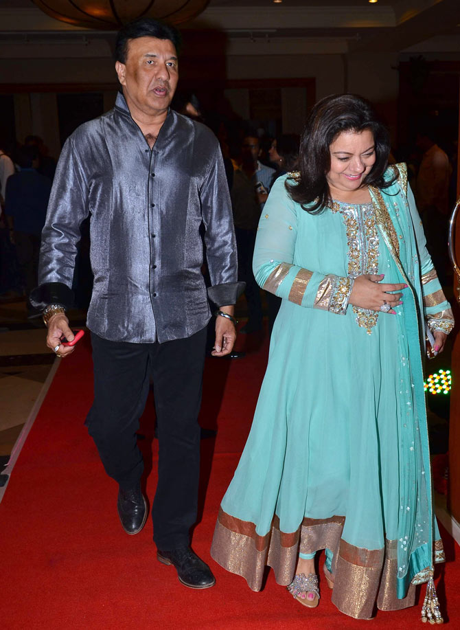 Anu Malik with his wife Anju