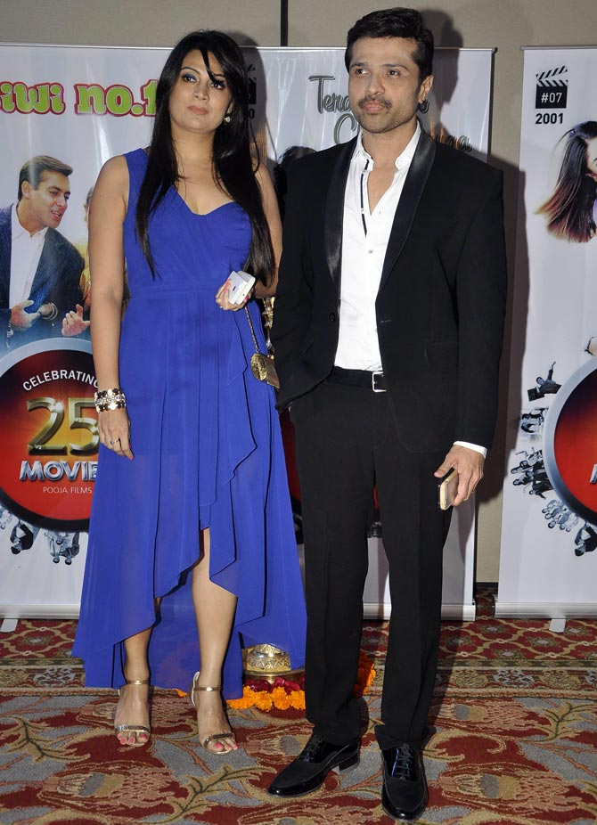 Himesh Reshammiya with his wife Komal
