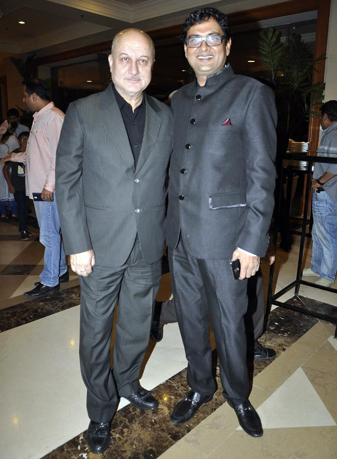 Anupam Kher and Rumi Jaffery