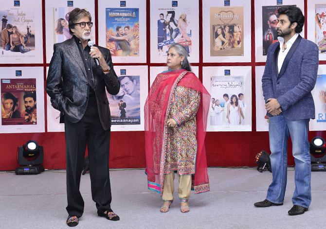 Amitabh, Jaya and Abhishek Bachchan