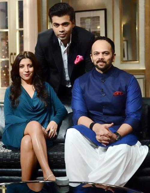 Zoya Akhtar, Karan Johar and Rohit Shetty on Koffee With Karan
