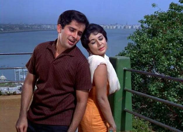 Shashi Kapoor and Nanda in Jab Jab Phool Khile
