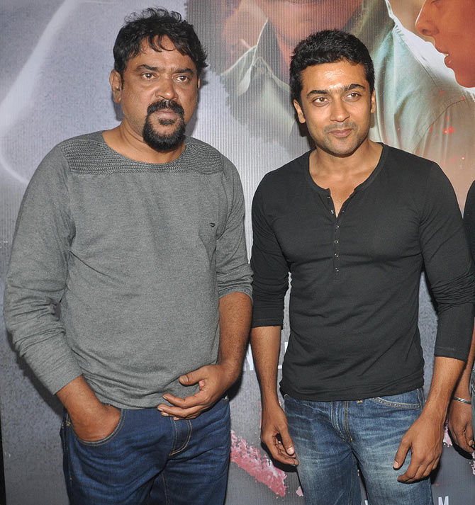 Santosh Sivan and Suriya