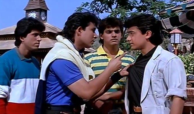 Deepak Tijori and Aamir Khan in Jo Jeeta Wohi Sikander