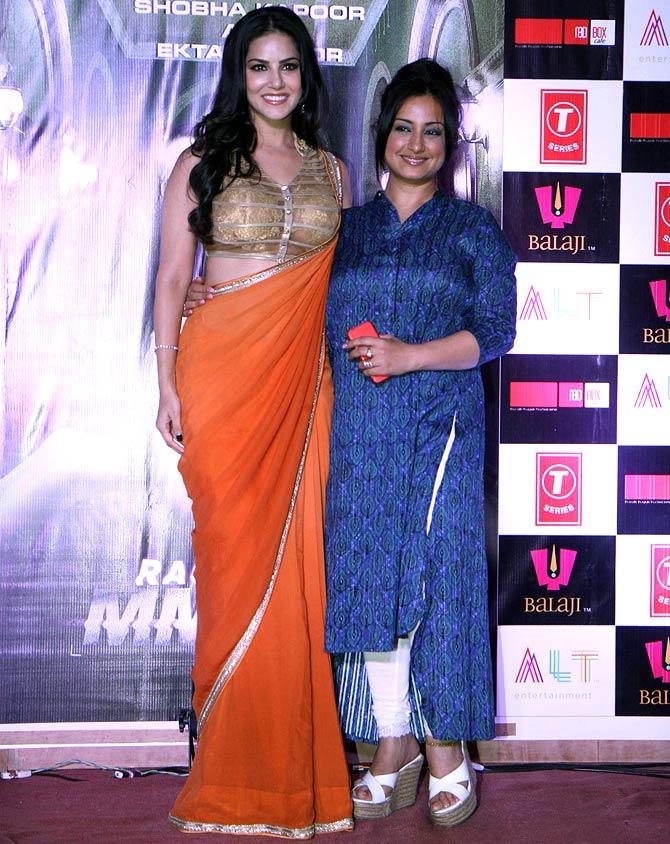 Sunny Leone and Divya Dutta
