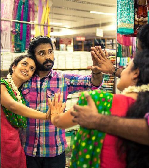 Attakathi Dinesh and Malavika Nair in Cuckoo