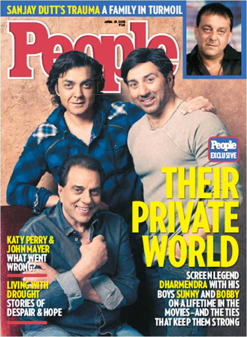 Dharmendra, Sunny and Bobby Deol on the cover of People Magazine