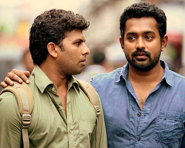 Asif Ali and Sunny Wayne in Mosayile Kuthirameenukal