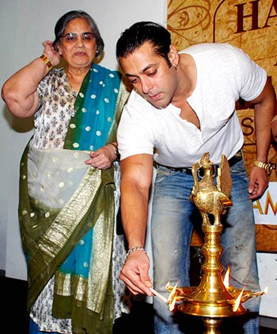 Salman Khan with his mother Salma Khan