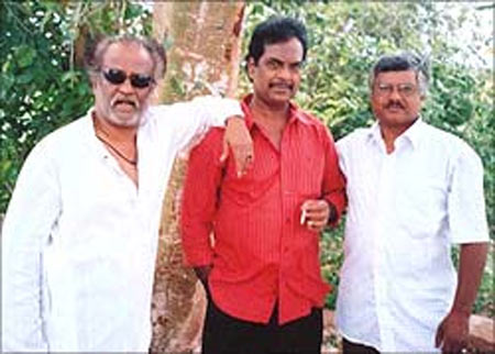 Rajinikanth with friend Raj Badhar