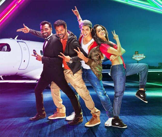 Remo D'Souza, Prabhu Dheva, Varun Dhawan and Shraddha Kapoor in ABCD 2