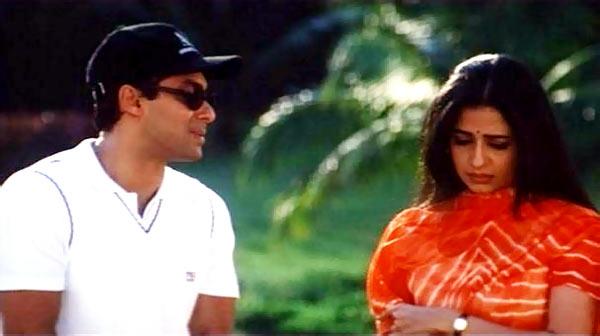 Salman Khan and Priya Gill in Sirf Tum