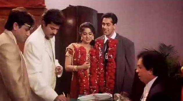 Govinda, Anil Kapoor, Juhi Chawla, Salman Khan and Govinda in Deewana Mastana