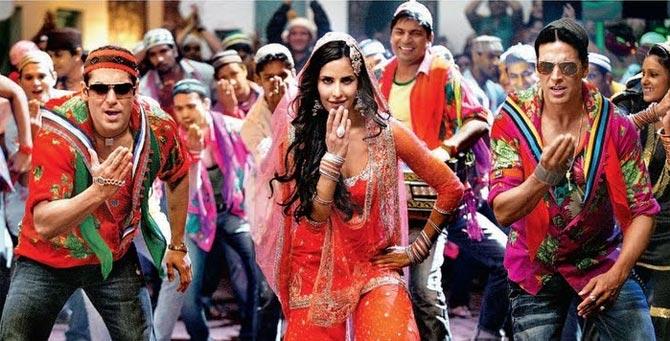 Salman Khan Katrina Kaif and Akshay Kumar in Tees Maar Khan