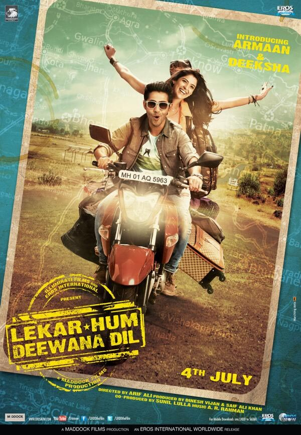 Poster of Lekar Hum Deewana Dil starring Armaan Jain and Deeksha Seth