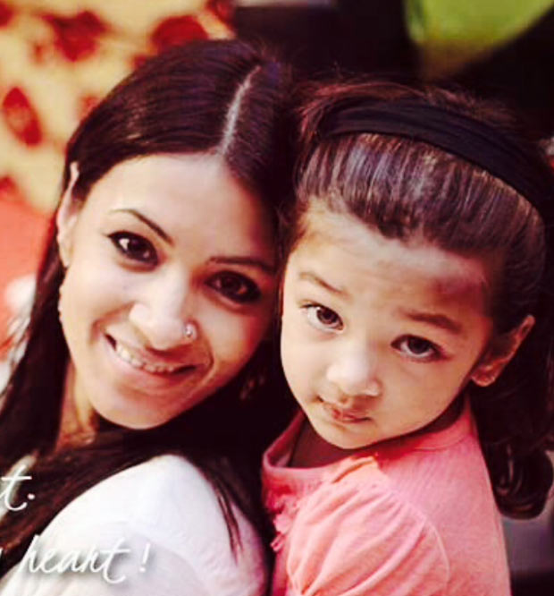 Barkha Bisht with her daughter Meira